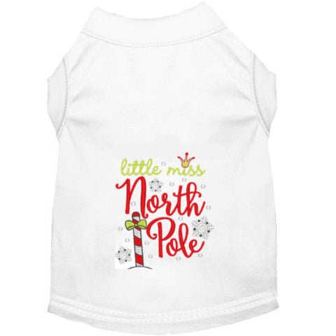 Christmas Dog Shirt - Little Miss North Pole