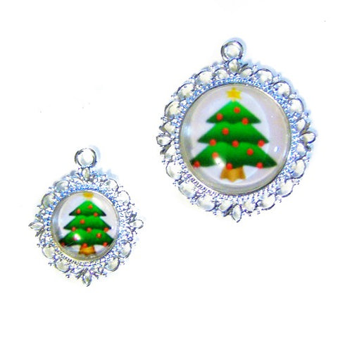 Christmas Tree Pet Collar Charm - pet charm - dog-collar-fancy