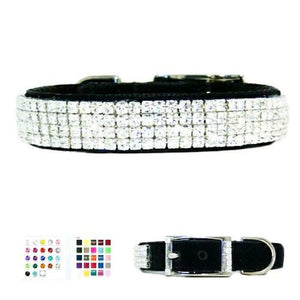 Star Diamonds Low Profile Crystal Collar - dog-collar-fancy