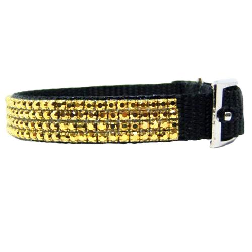 Lush Gold Crystal Collar side view