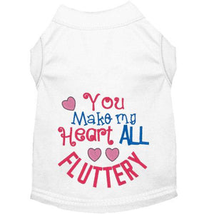 Fluttery Heart Valentine Dog Shirt for Valentine's Day