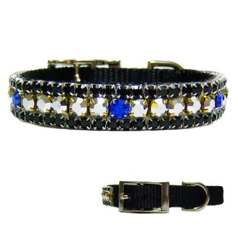 All Male Crystal Pet Collar - For dogs and cats - dog-collar-fancy