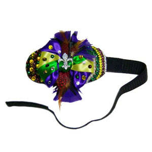 Mardi Gras Headpiece for Dogs - Dog Collar Fancy - dog-collar-fancy