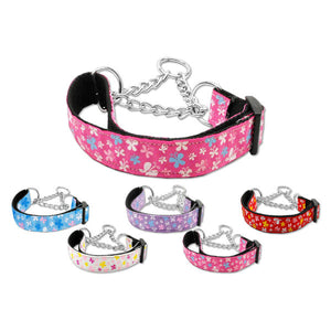 Butterflies print martingale dog collar