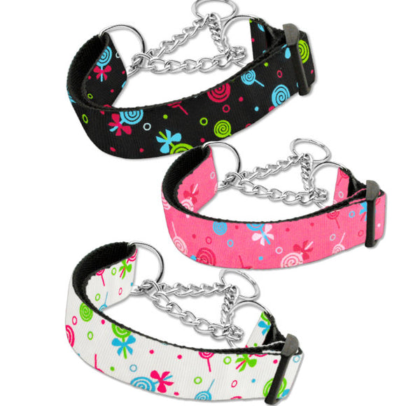 Martingale dog collars lollipops print