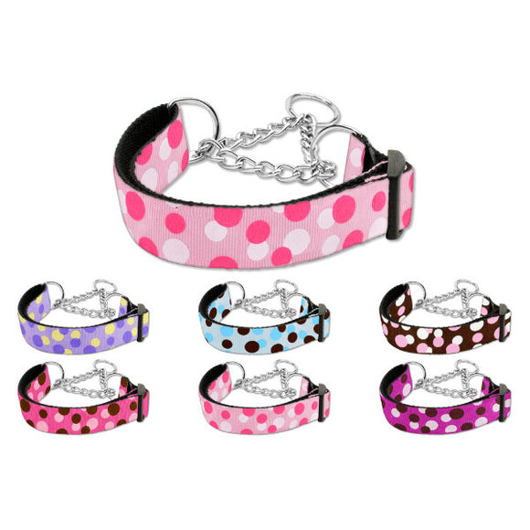 Martingale dog collars in confetti dots print