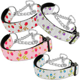Martingale dog collars in roses print