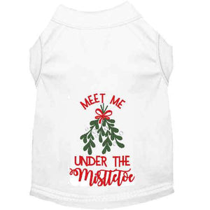 Meet Me Under the Mistletoe Christmas Dog Shirt