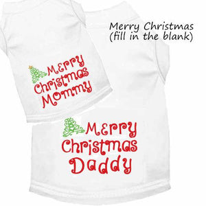 Personalized Merry Christmas Dog Shirt