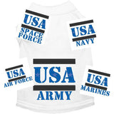 Military dog shirts army navy air force marines space force