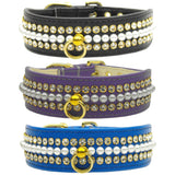 Pearl and Rhinestone Dog Collars color choice set 1