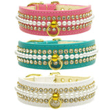 Pearl and Rhinestone Dog Collars color choice set 3