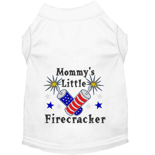 Mommy's Little Firecracker Dog Shirt - dog-collar-fancy