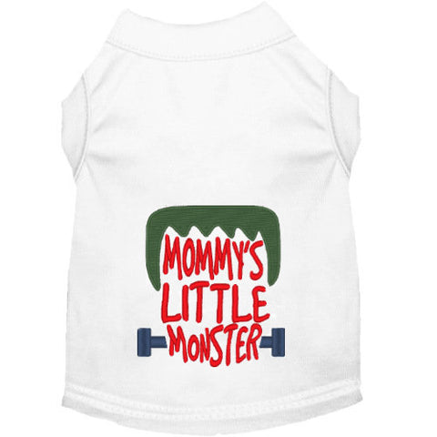 Mommy's Little Monster Halloween dog shirt