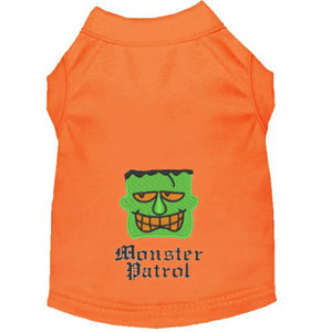Embroidered Halloween Dog Shirt - Monster Patrol