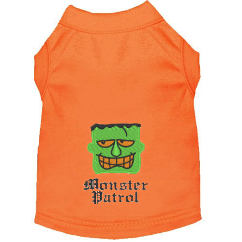 Halloween Dog Shirt - Monster Patrol - Small to Medium Dogs - dog-collar-fancy