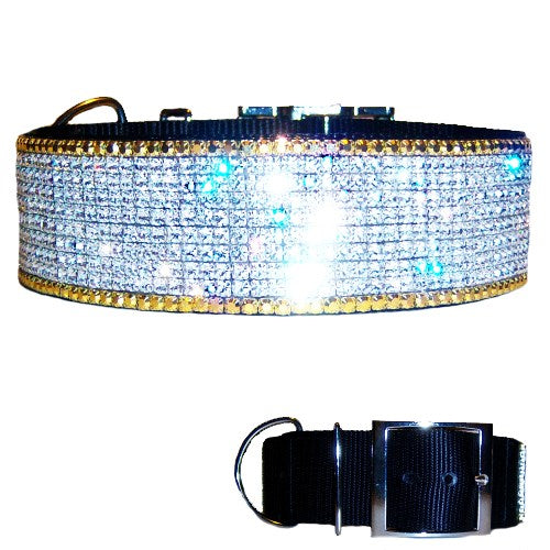 My Golden Bling Bling Big Dog Collar - For large dogs - dog-collar-fancy