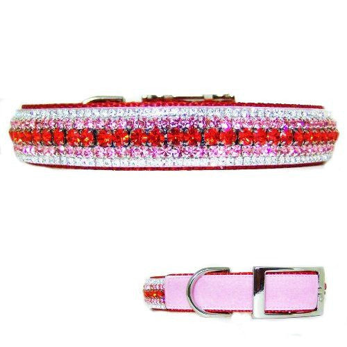 My Sweet Valentine Crystal Velvet Dog Collar - For medium to large dogs - dog-collar-fancy