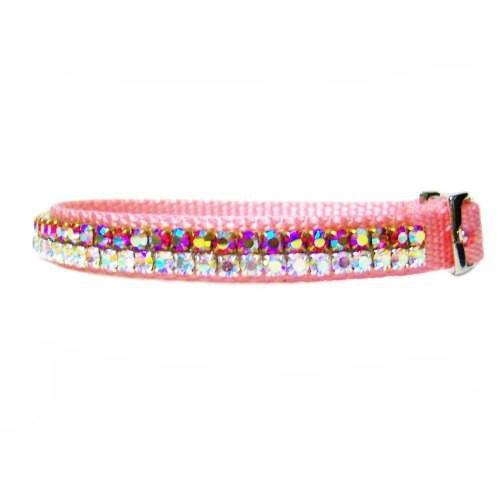 Mystic Rose Crystal Pet Collar - For small dogs and cats - dog-collar-fancy
