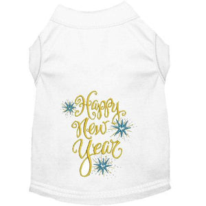 Happy New Year Dog Shirt for small to x large dogs