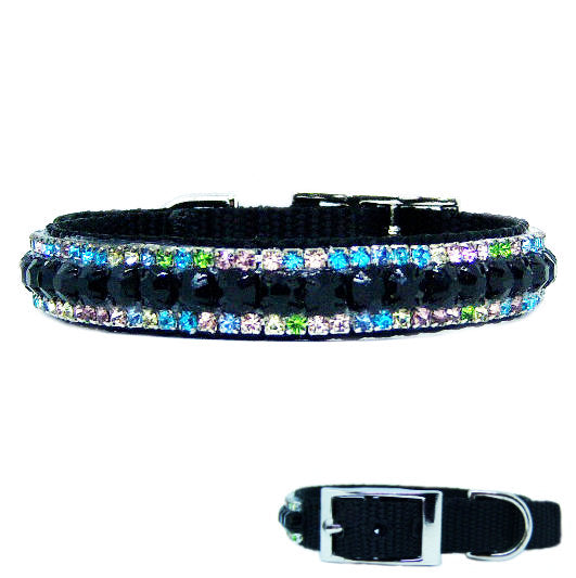 Night Lights Crystal Pet Collar - For dogs and cats - dog-collar-fancy