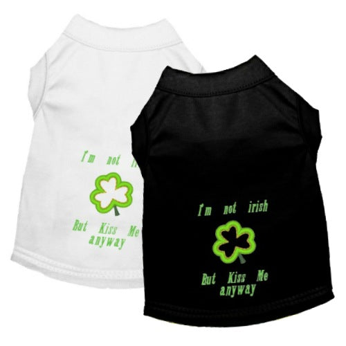 I'm Not Irish St Patrick's Dog Shirt - Small to Large Dogs - dog-collar-fancy