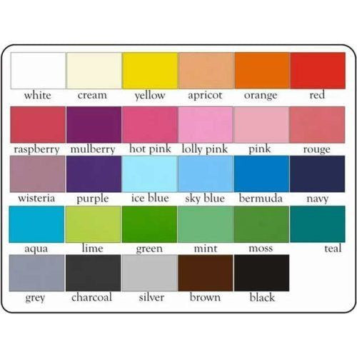Color chart for dog beds and toy boxes.