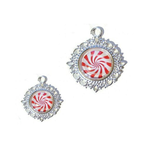 Peppermint Candy Christmas Pet Collar Charm