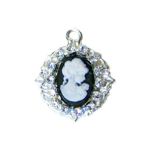 Pet Collar Charm - Crystal Cameo - pet charm - dog-collar-fancy