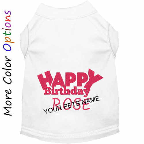 Personalized Birthday Dog Shirt in choice of colors and sizes