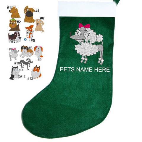 Dog Breed Christmas Stocking - dog-collar-fancy