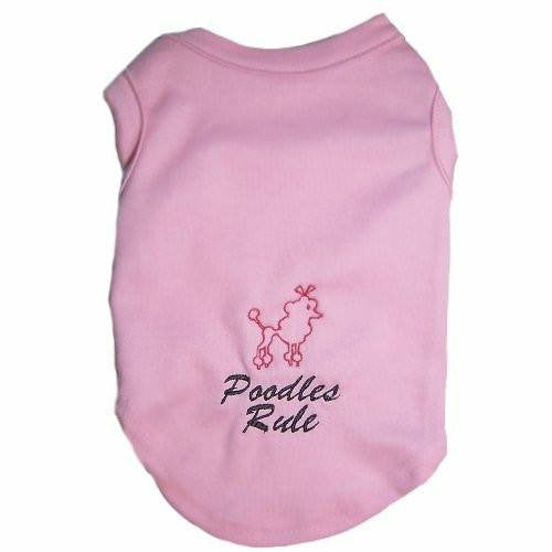 Dog Shirt - Poodles Rule - Small to Medium Dogs - dog-collar-fancy