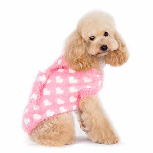 Pink Sweetheart Dog Sweater side view