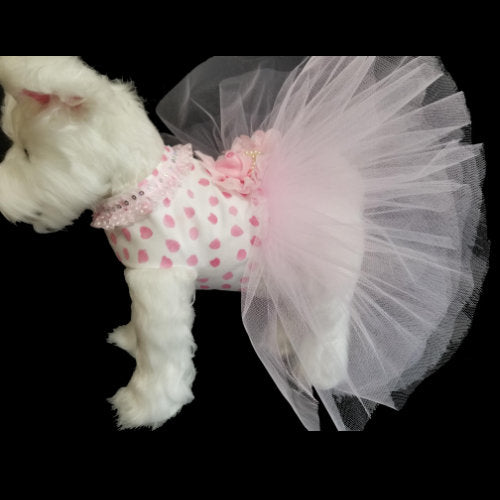Sweet Puffy Pink Dog Dress - Small to Large Dogs - dog-collar-fancy