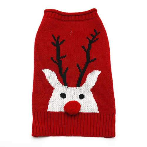 Red nose reindeer dog sweater