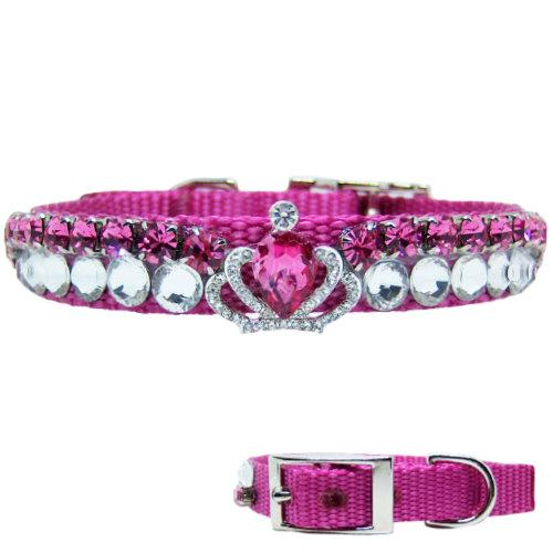 A beautiful rose and crystal collar with crown