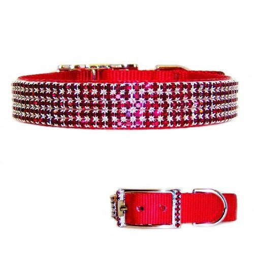 Ruby Treasures Large Crystal Dog Collar - For medium to large dogs - dog-collar-fancy