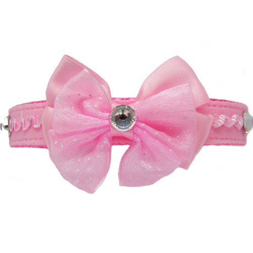 Ruffles and Bling Pet Collar in Pink