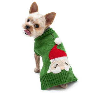 Christmas Santa Dog Sweater model dog