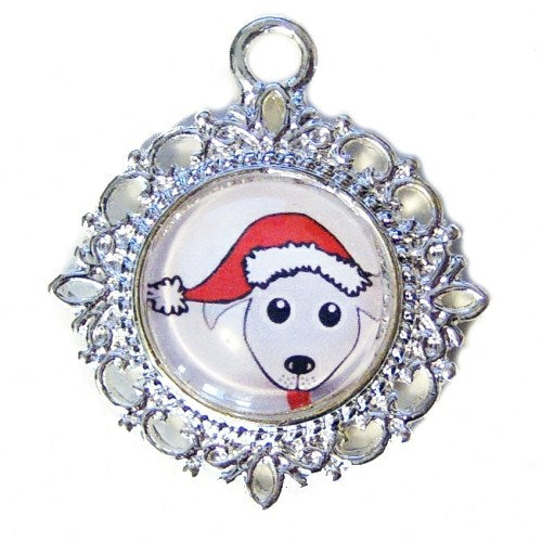 Christmas Pets Tag - pet charm - dog-collar-fancy