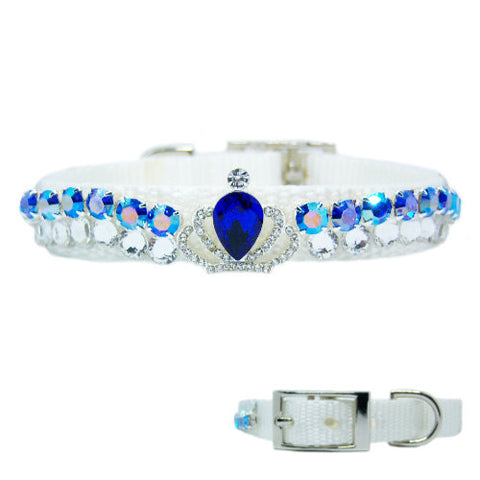Sapphire Sensation Fancy Pet Collar - For dogs and cats - dog-collar-fancy