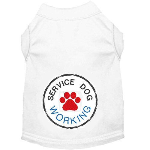 Dog tee shirt for working service dogs with paw print