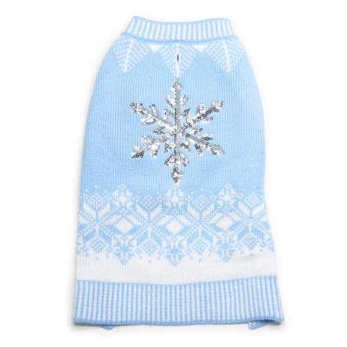 Snowflake Sparkle Dog Sweater