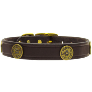Leather Shotgun Shell Dog Collar