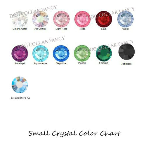 Small crystals color chart.