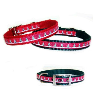 Christmas Tree Print Pet Collar