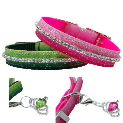 Sparkle Me pet collars with free crystal charm