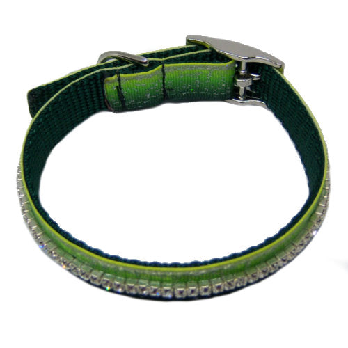 Sparkle Me pet collar in gradient green