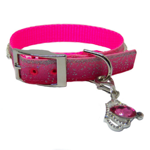 Sparkle Me pet collar in gradient pink