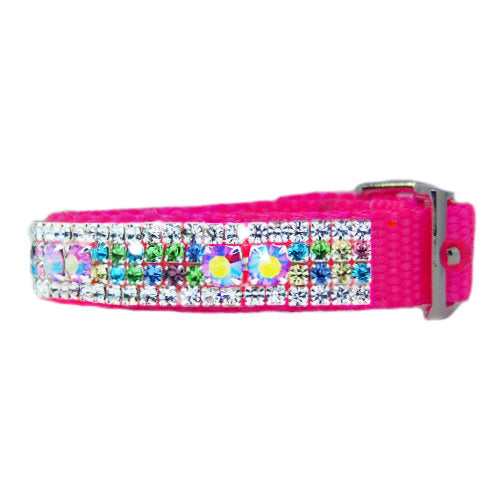 Sparkly Spoiled Rotten pet collar side view